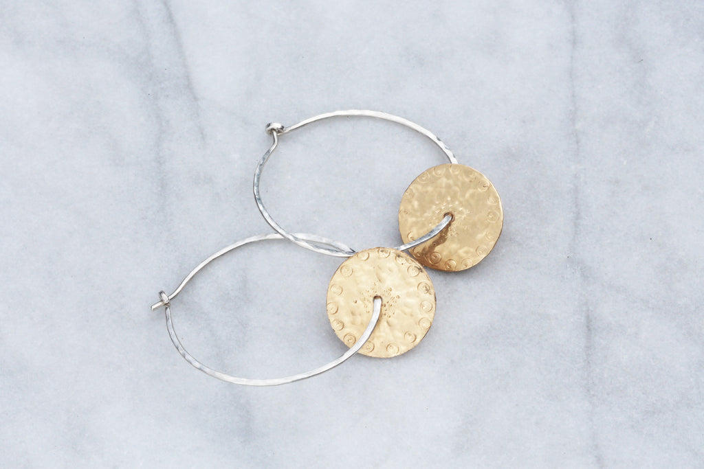 Allium Hoop Earrings