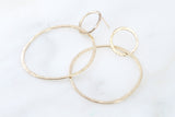 Earrings Double Pebble Hoops- extra large