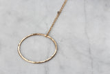 Pendant - Gold filled Hammered Hoop