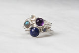 Gemstone Ring - Bezel Set 7 mm Lapis Lazuli
