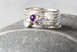 Stacking Ring with Bezel Set Gemstone