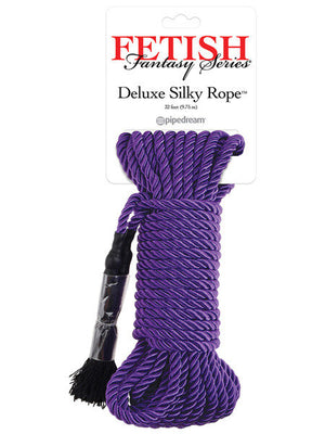 Fetish Fantasy Series Deluxe Silk Rope in purple