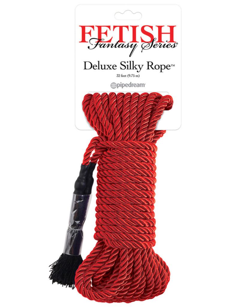 Fetish Fantasy Series Deluxe Silk Rope in red