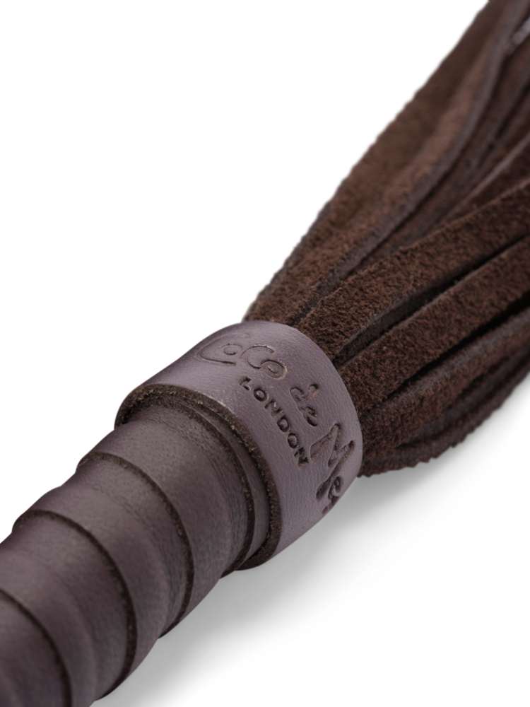 Coco de Mer Leather Flogger in Chocolate Brown - small