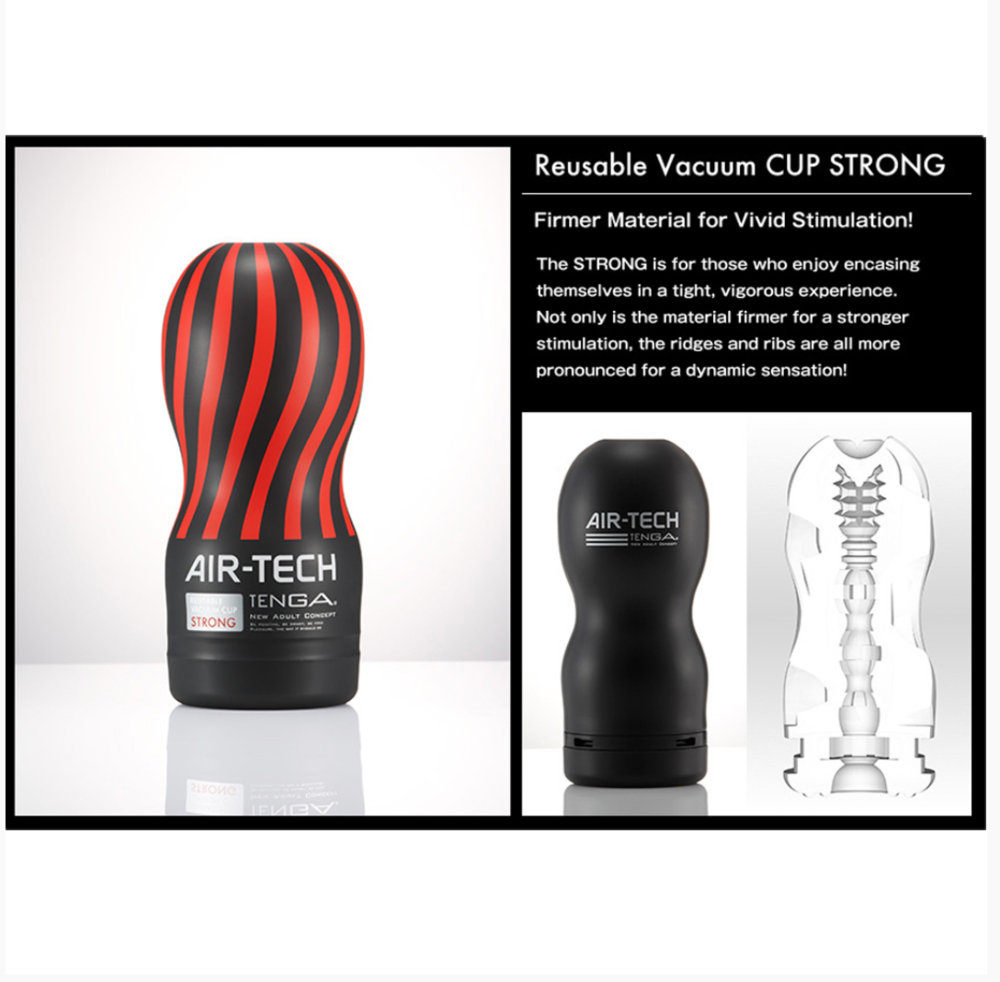 Air-Tech Reusable Vacuum Cup by Tenga-Black