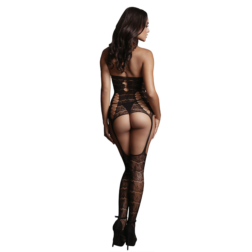 Lace Suspender Bodystocking by Le Desir