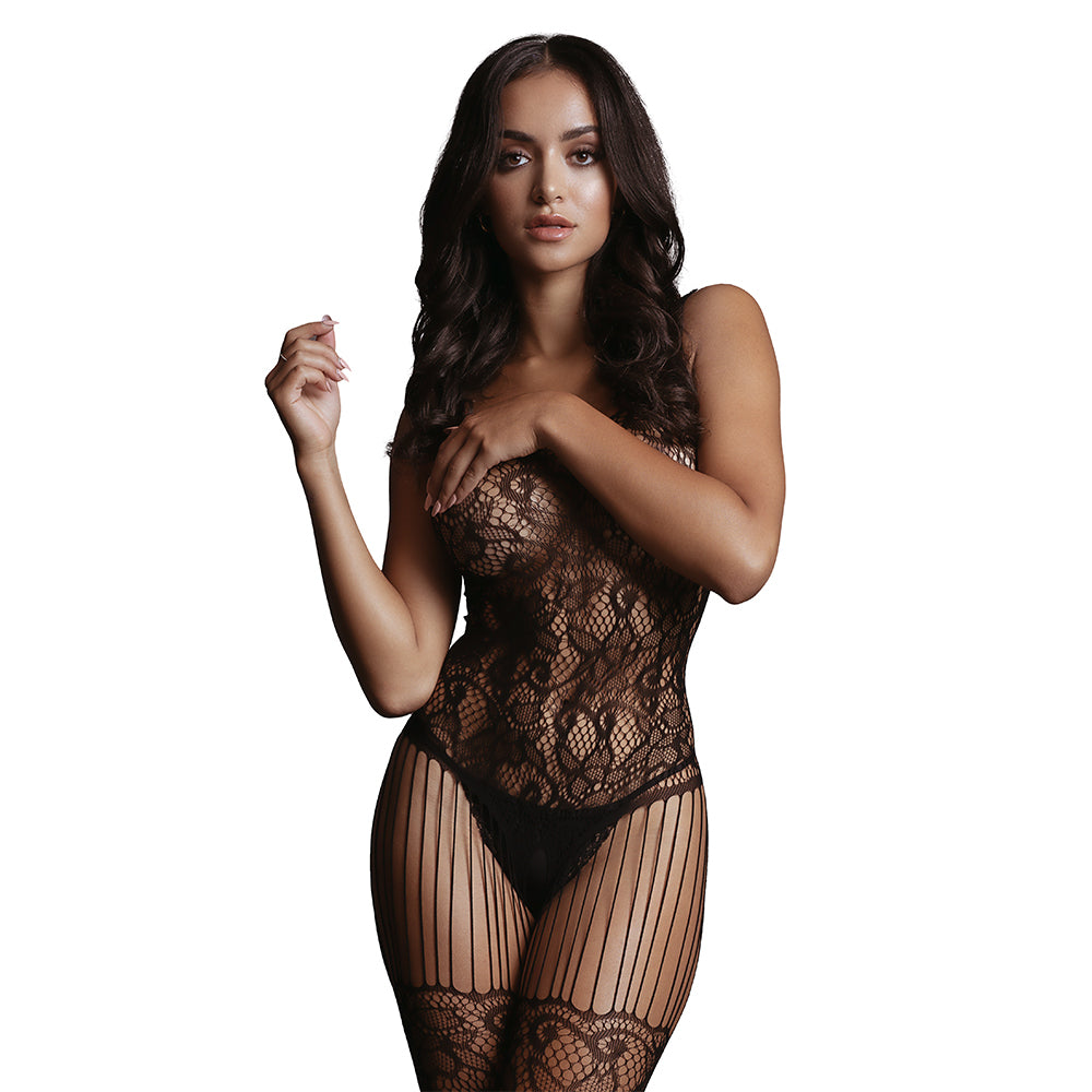 Lace and Fishnet Bodystocking by Le Desir
