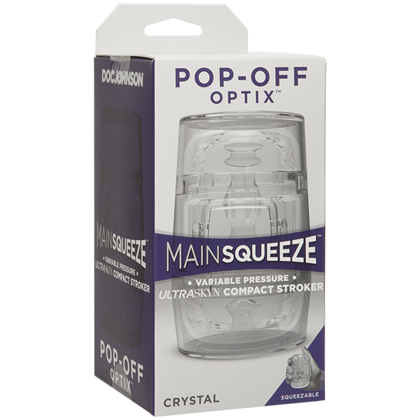 Main Squeeze™ POP-OFF OPTIX™ Clear by Doc Johnson