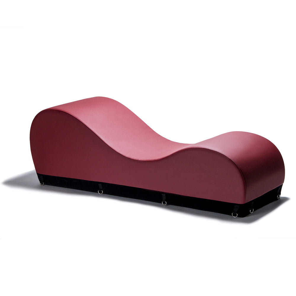 Esse Chaise Black Label by Liberator in burgundy