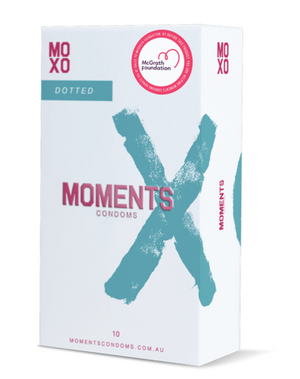 Moments Condoms Dotted 10 Pack