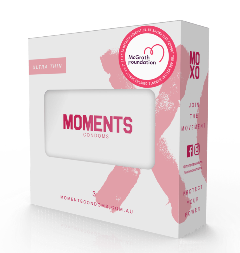 Moments Condoms Tin with three Ultra Thin Condoms
