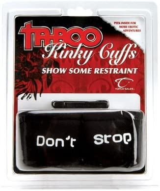 taboo kinky cuffs show some restraint