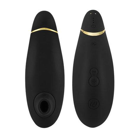 Womanizer Premium Clitoral Stimulator in black and gold