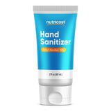 Nutricost Hand Sanitizer 2oz Gel - 70% Ethyl Alcohol, No Added Fragrance - Convenient Personal Size