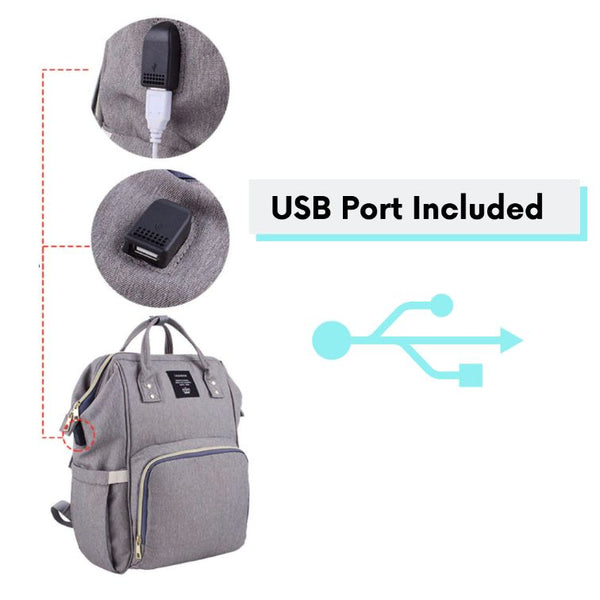 Diaper-Back-Pack-Close-Up-To-A-USB-Por-For-Connectivity-At-All-Times