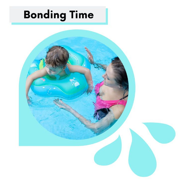 Mom-And-Baby-Having-A-Bonding-Time-Swimming-With-A-Baby-Swim-Ring