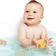 Load image into Gallery viewer, Baby-Playing-In-The-Tub-With-Building-Blocks-For-Teething