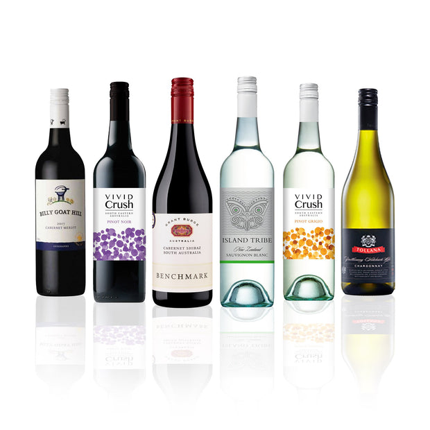 Premium Mixed Wine Half Dozen feat. Grant Burge, Tollana & more (6 Bottles)