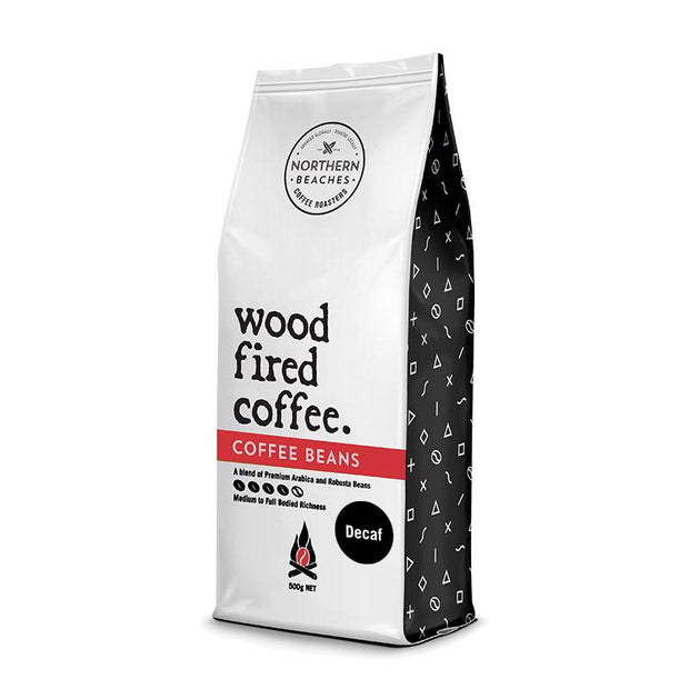 Wood Fired Coffee Decaffeinated Beans - 500g Bag