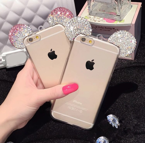 official photos 54dff ca470 Diamond Minnie Ears iPhone 6 Case - Pink or White