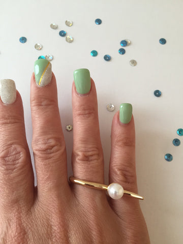 Odalis Pearl Ring - Gold or Silver - MeTimeBoutique