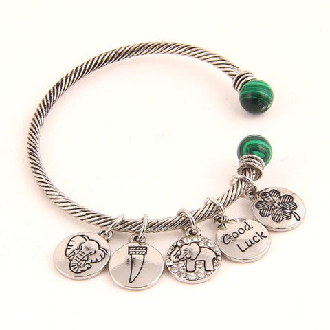 Lucky Elephant Cuff Bracelet - MeTimeBoutique