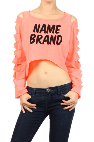 Brand Name Neon Peach Top - MeTimeBoutique
