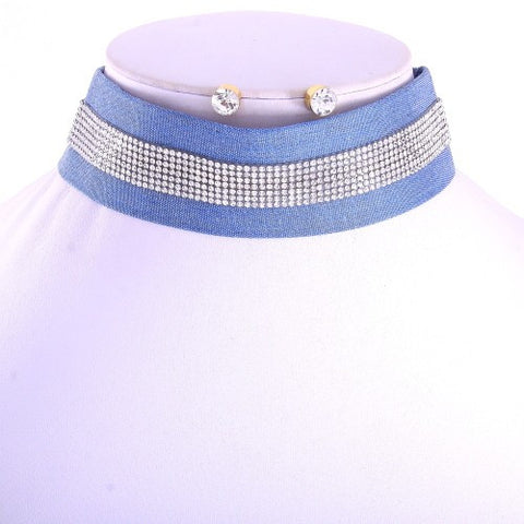 Elina Denim Elite Choker