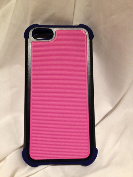 Pink Stripe / Black iPhone 5