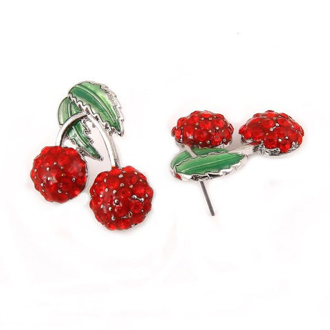 Cherry Silver Studs