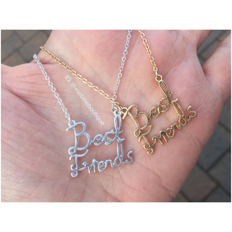 Best Friends Necklace - Gold or Silver - MeTimeBoutique