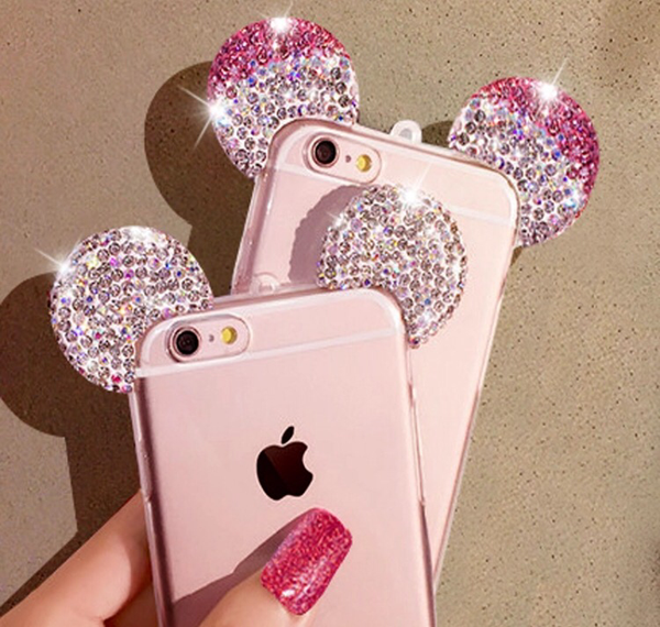Diamond Minnie Ears iPhone 6 Case - Pink or White - MeTimeBoutique