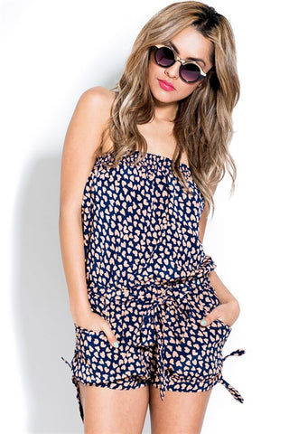 Heart Print Romper - MeTimeBoutique