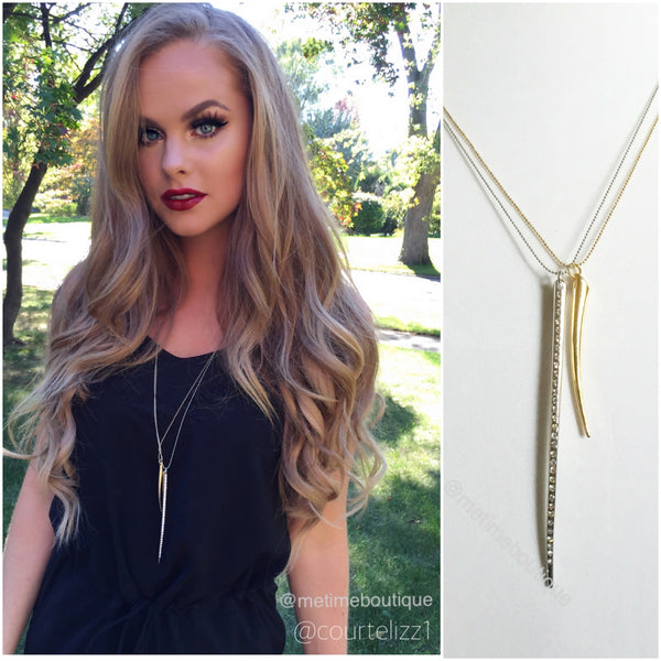Double Horn Gold/Silver Necklace - MeTimeBoutique