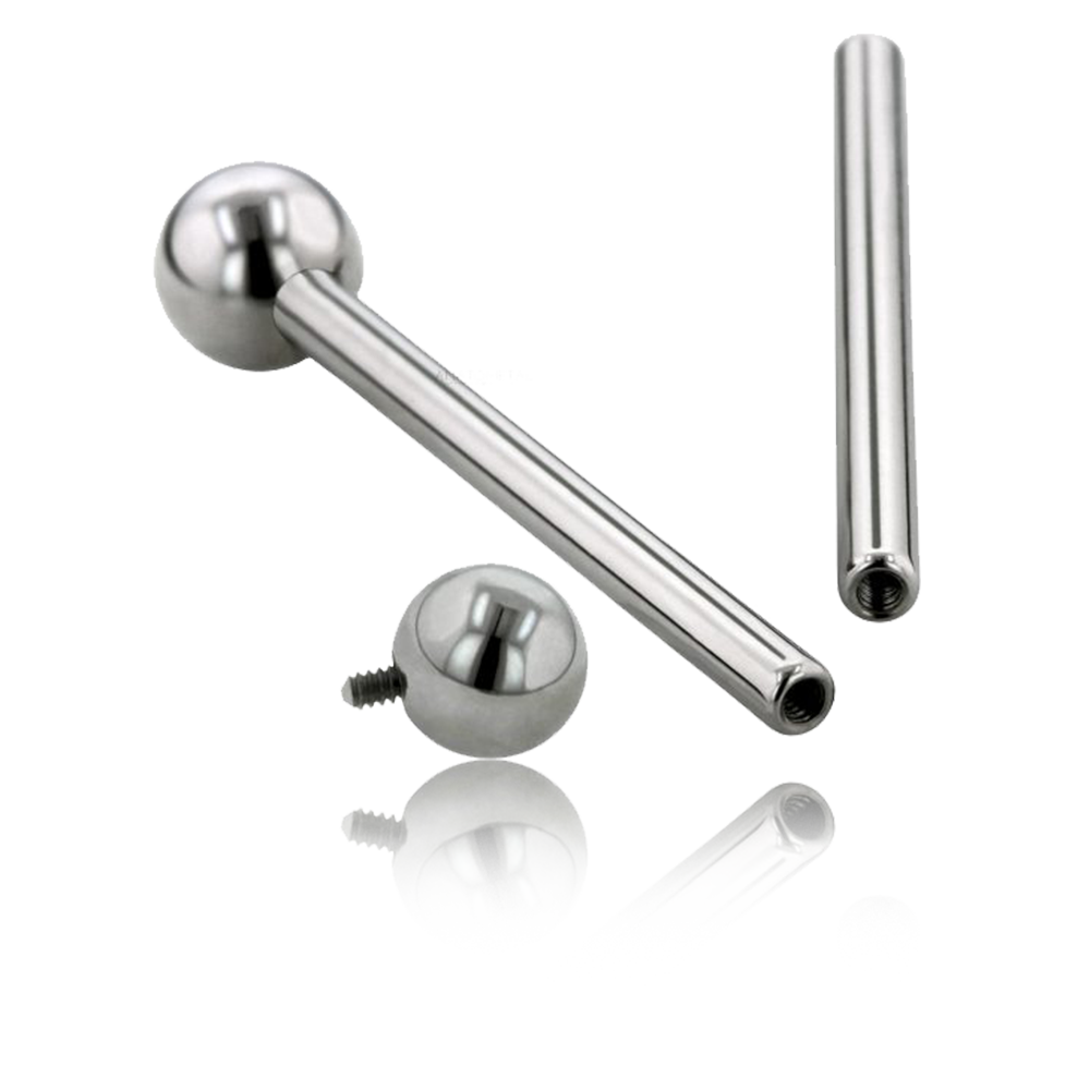 Premium Titanium Threaded Straight Barbell