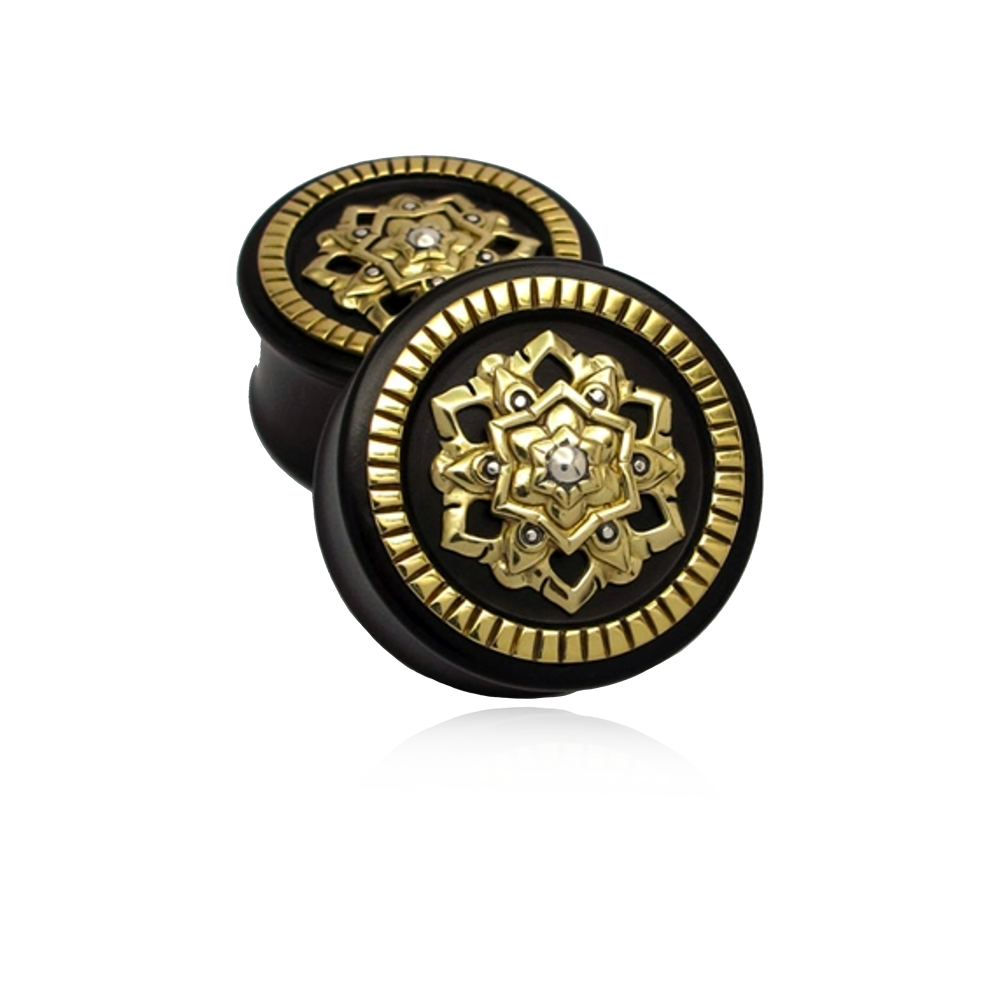 Chandi Mandala Plugs - Brass *COLLECTORS EDITION*