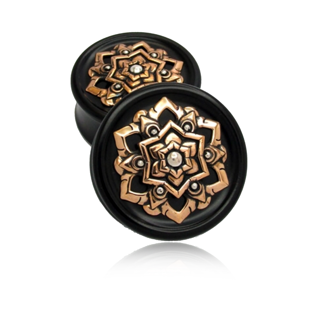Chandi Mandala Plugs - Brass