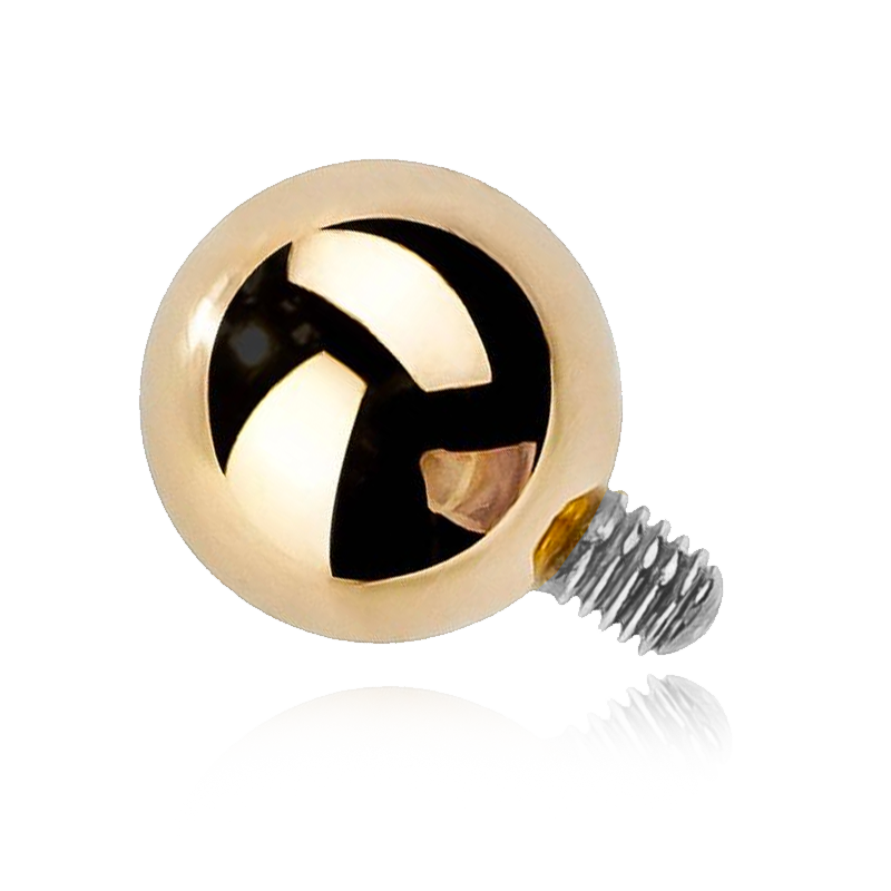 Gold Ball Threaded Attachment