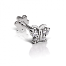 Load image into Gallery viewer, Diamond Butterfly Threaded Stud