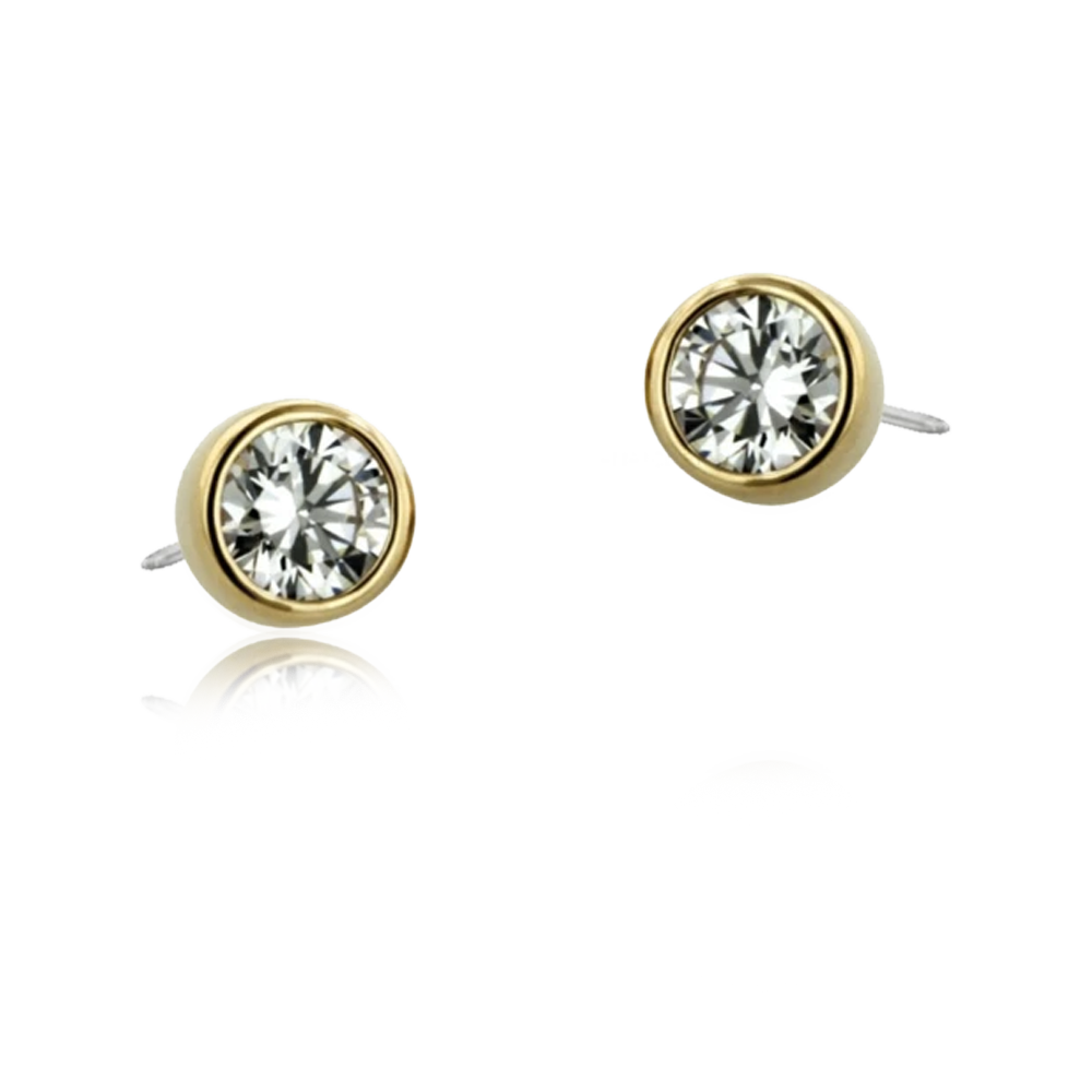 18k Bezel Set Gem Threadless Attachment