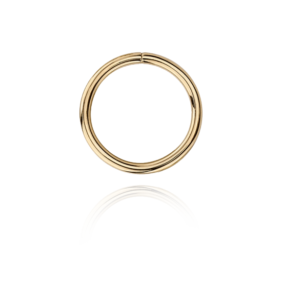 14k Gold Seam Ring