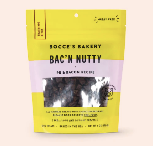 Bocces Training Bites Bacon N' Nutty 6oz
