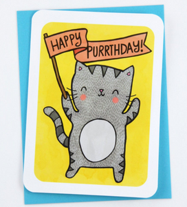 Happy Purrthday Notecard