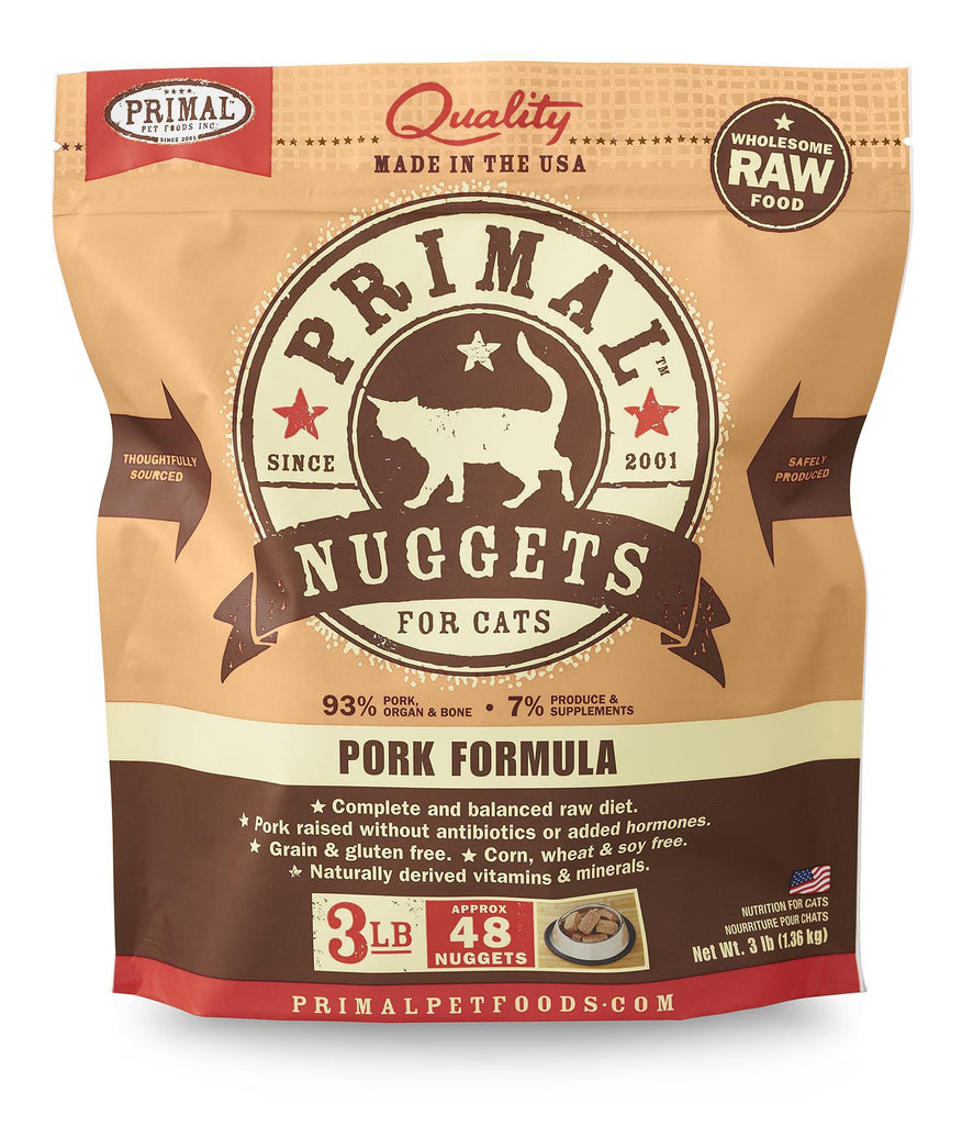 Primal Frozen feline Raw Pork 3lb