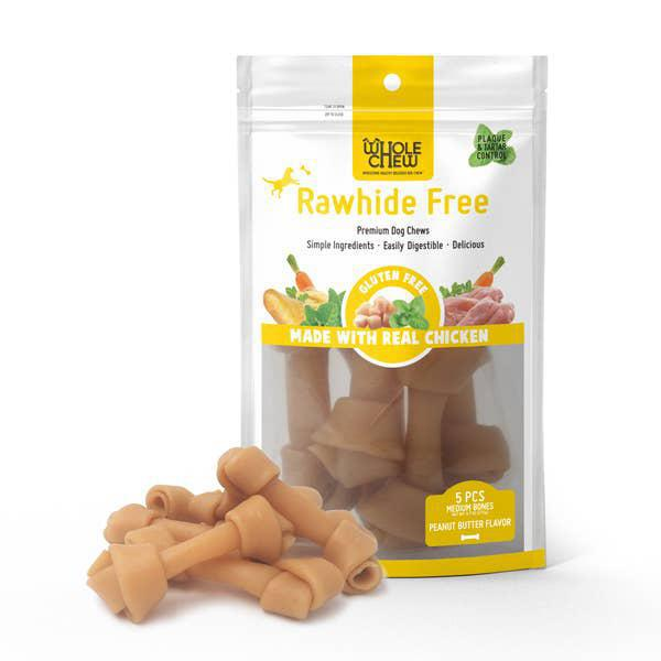 Whole Chew RAWHIDE FREE Peanut Butter Medium