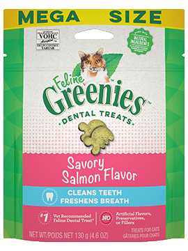 Feline greenies salmon dental treat 4.6oz