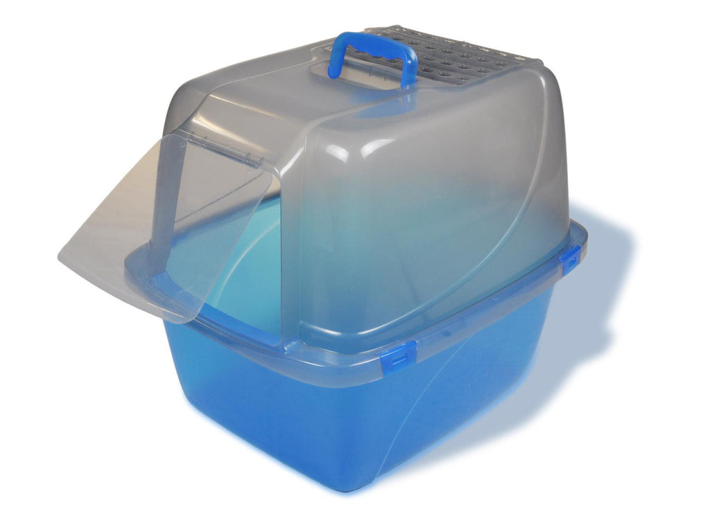 Van Ness Large Hooded Litter Box Translucent