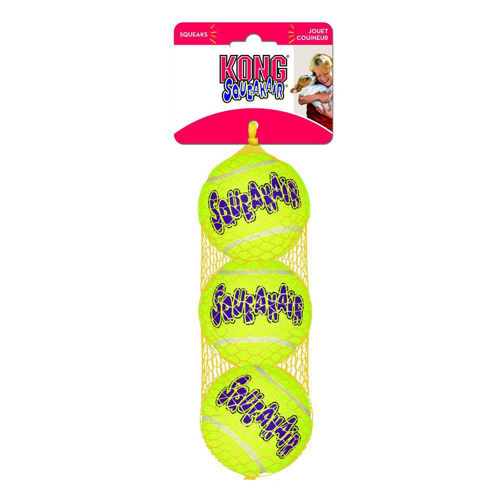 Kong Air Squeaker Ball MD 3pack