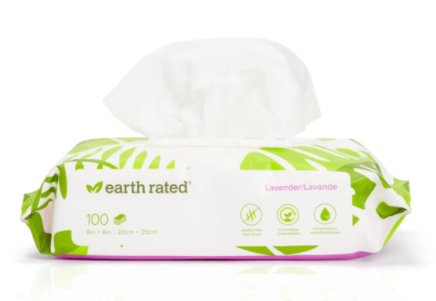 Earth Rated  Grooming wipes Lavender 100ct