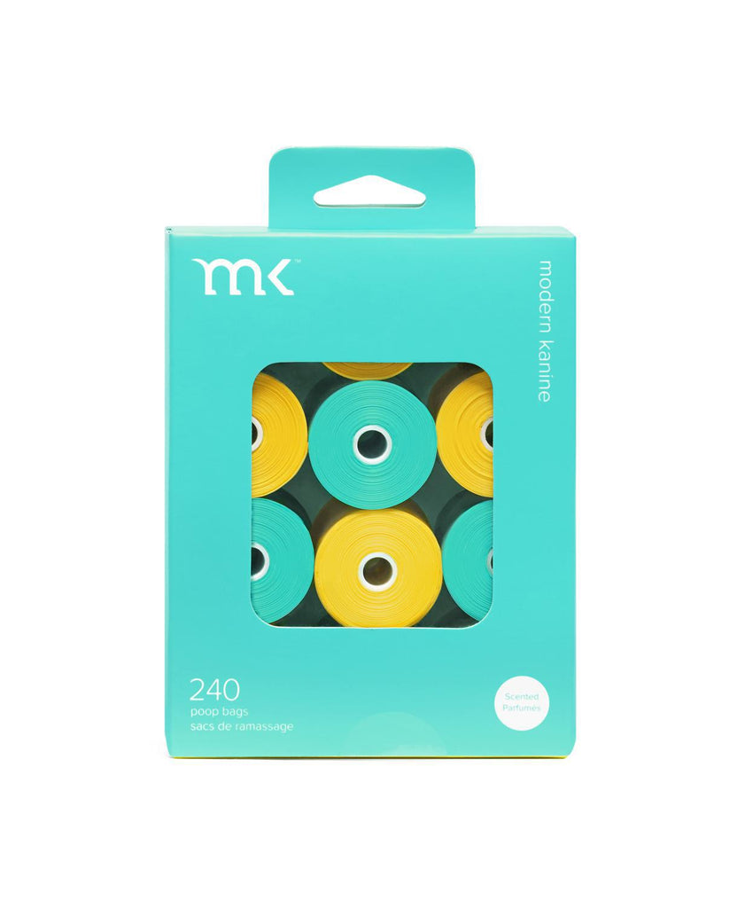 MK Poopbags 240ct Turquoise Yellow